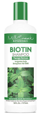 Mill Creek Botanicals Biotin Shampoo and Conditioner for hair regrowth