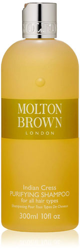 Molton Brown Indian Cress Purifying Shampoo for hair prevention from hair loss