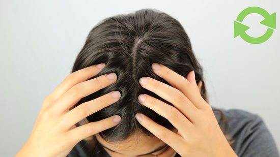 Stimulate hair growth with scalp massage